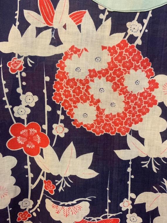 Vintage 1920's Summer Floral Cotton Pullover Top,… - image 6
