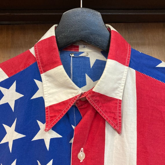 Vintage 1960's American Flag Abbie Hoffman Pop Ar… - image 7