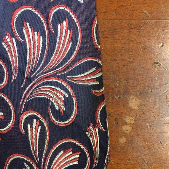 Vintage 1930's, Macro Paisley Design Swing Tie, U… - image 5