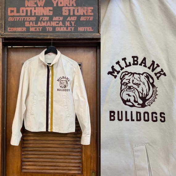 Vintage 1950's Champion Label Milbank Bulldogs wit