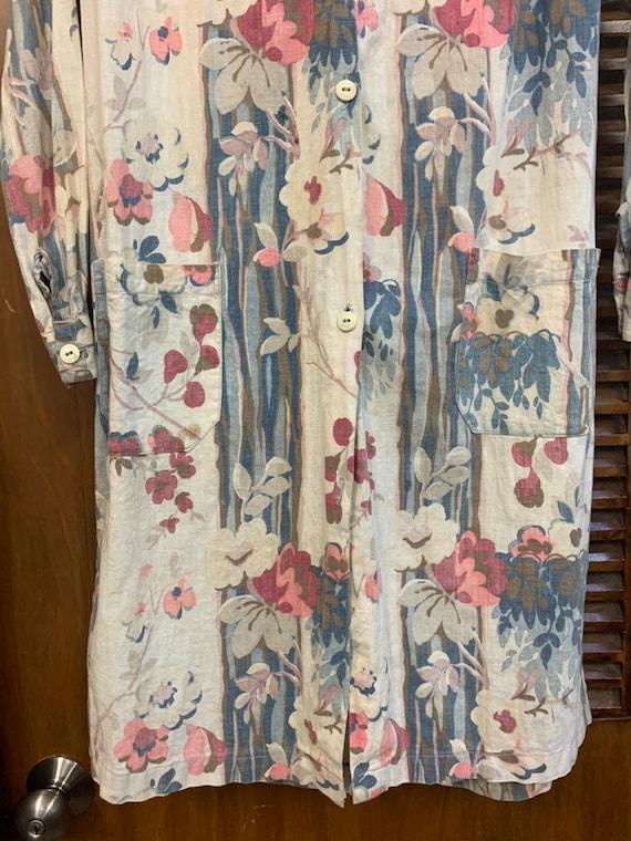 Vintage 1930's Floral Cotton Duster Coat, Vintage… - image 8