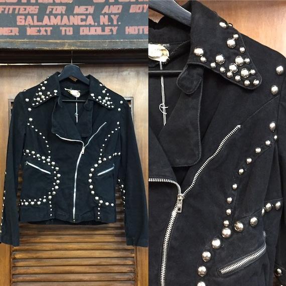 Vintage 1960's Black Studded Roncelli Denim Glam R
