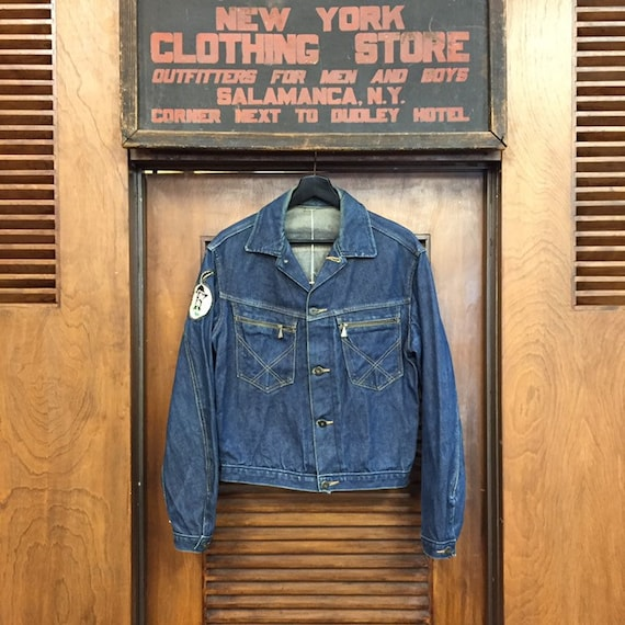 """Vintage 1950's """"Roy Rogers"""" Branded Button Denim … - image 2"""