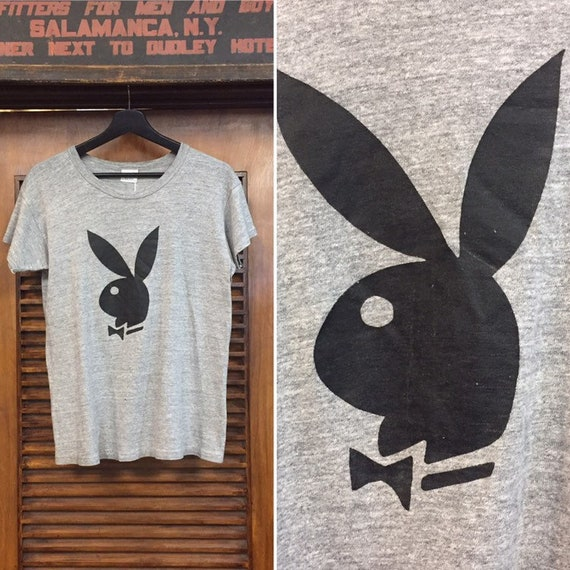 Vintage 1970's Playboy Tee with Playboy Label, 70'