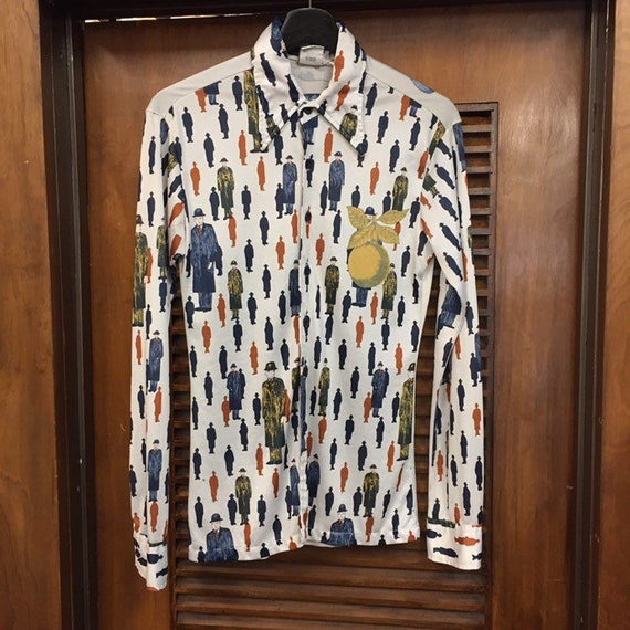 Vintage 1960's Artist Pop Art Shirt, 1970's Vinta… - image 2