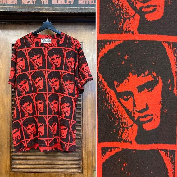 Vintage 1980's Elvis Presley Warhol Style Cotton … - image 1