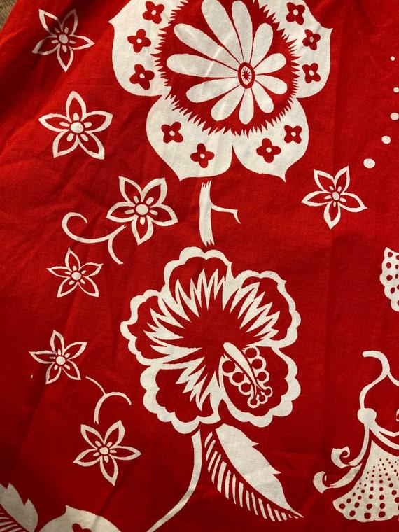 Vintage 1950's Kamehameha Label Cotton Floral Tik… - image 6