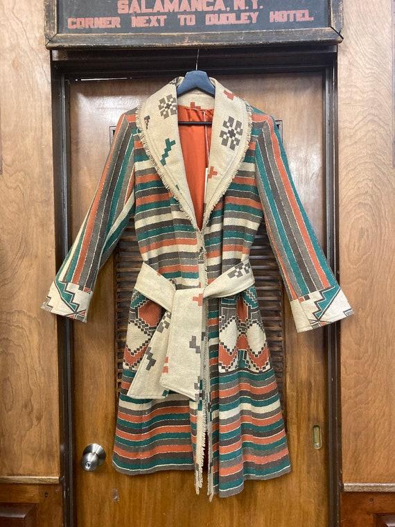 Vintage 1970's Southwestern Serape Duster Coat Ja… - image 2