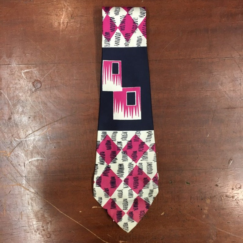 Vintage 1950s Abstract Print Rockabilly Swing Tie Vintage Shirt 1950s Tie Vintage Cloth Vintage Tie 1940s Tie