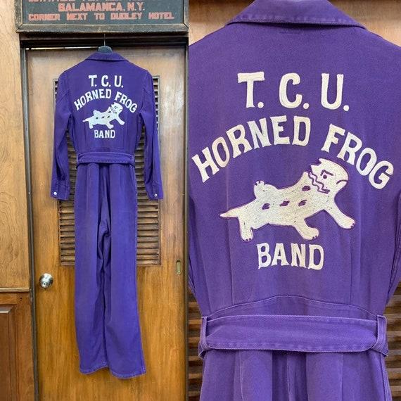 Vintage 1950's TCU School Band / Team Jumpsuit, Vi