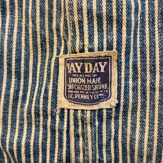 """Vintage 1940's """"Pay Day"""" Hickory Stripe Workwear … - image 6"""