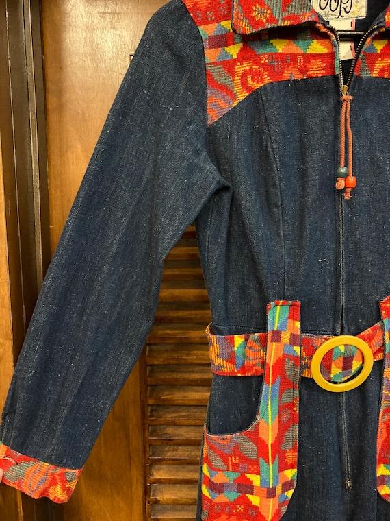 Vintage 1970's Denim Woven Jumpsuit, Vintage Jump… - image 5