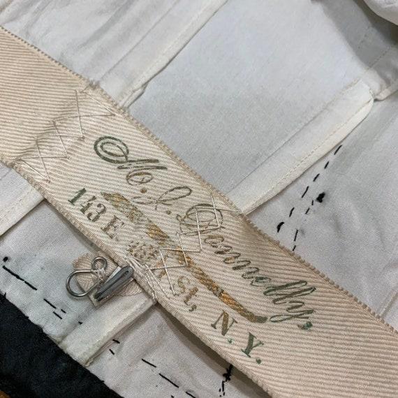 Vintage Victorian Black Silk & Lace Paneled Blous… - image 9