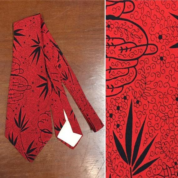 Vintage 1940's Necktie, Ivy Design, 1940's Tie, 19