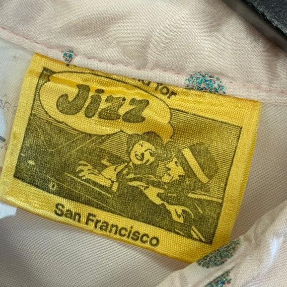 Vintage 1970's Jizz Glamrock Glitter Bubble Weste… - image 5