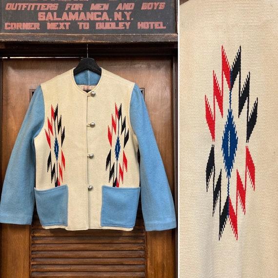 "Vintage 1950's ""Ganscraft"" Chimayo Southwest Jacke"