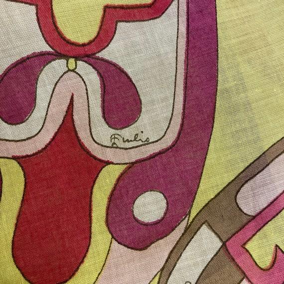 Vintage 1960's Emilio Pucci Mod Cotton Blouse Top… - image 8
