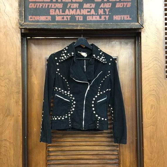 Vintage 1960's Black Studded Roncelli Denim Glam … - image 2