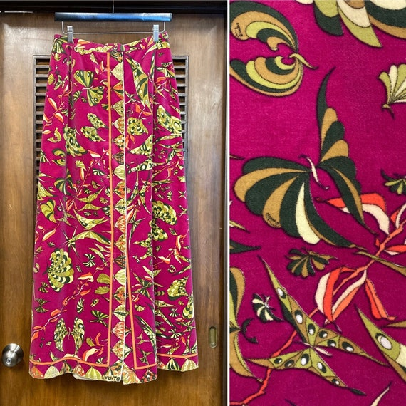 "Vintage 1960's Butterfly Pattern ""Emilio Pucci"" Ve"