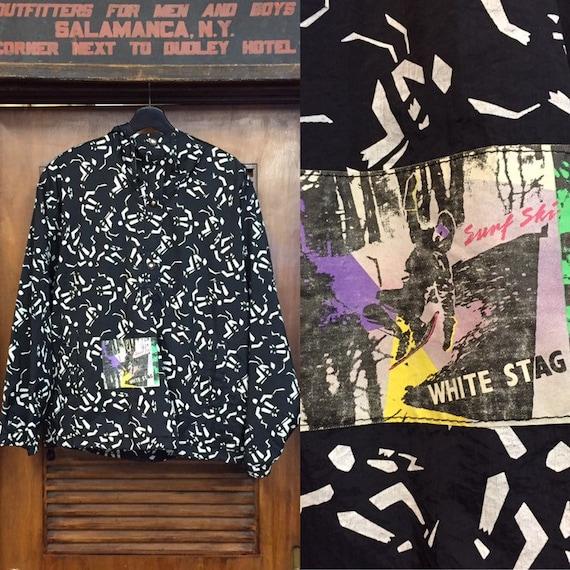 "Vintage 1990's ""White Stag"" Ski Pullover Jacket, M"