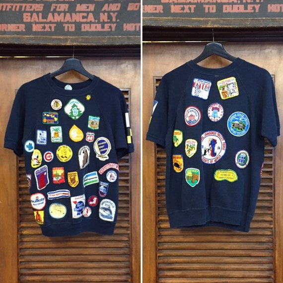 Vintage 1970's All Over Patches On Short Sleeve Sw