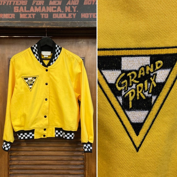 "Vintage 1980's ""Grand Prix"" Racing Checkers Bomber"