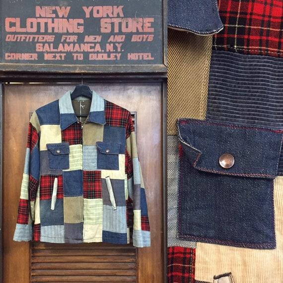 Vintage 1950's Custom Patchwork Workwear Jacket, V