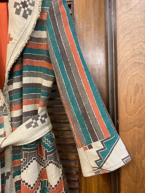 Vintage 1970's Southwestern Serape Duster Coat Ja… - image 5