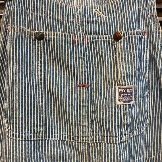 """Vintage 1940's """"Pay Day"""" Hickory Stripe Workwear … - image 5"""