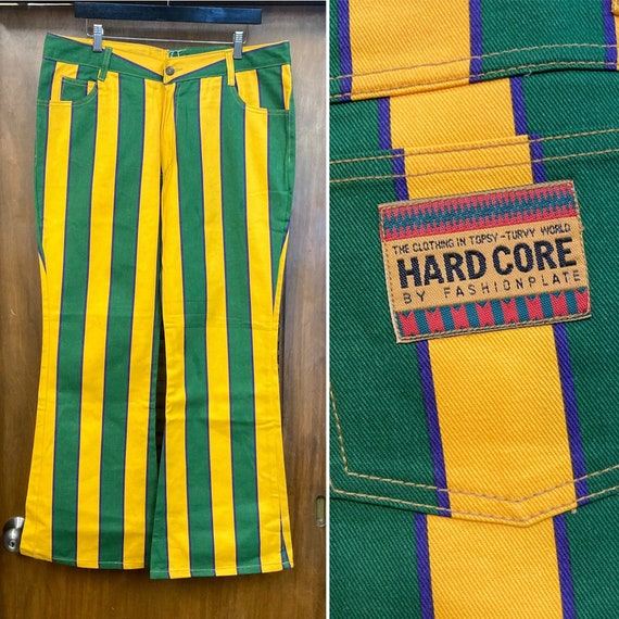 Vintage 1990's Hip Hop Style Denim Stripe Jeans -D