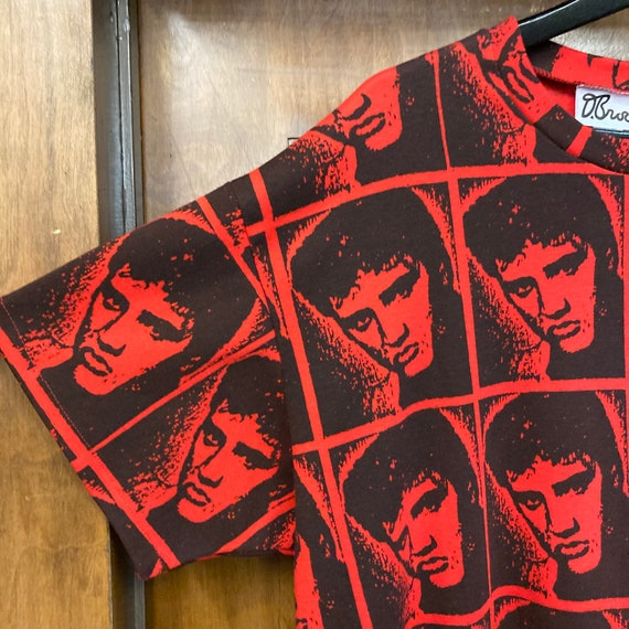 Vintage 1980's Elvis Presley Warhol Style Cotton … - image 5
