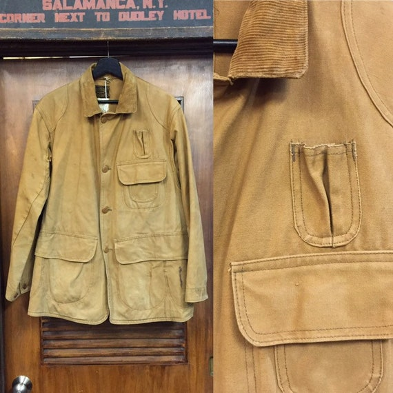 "Vintage 1930's ""Drybak"" Label Hunting Jacket, Canv"
