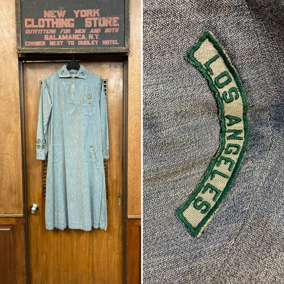 Vintage 1930's Los Angeles Girl Scout Outfit Dress