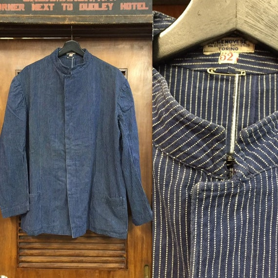 Vintage 1930's-50's Striped European Workwear Jack