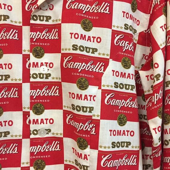 Vintage 1960's Campbell's Soup Pop Art Shirt Warh… - image 8