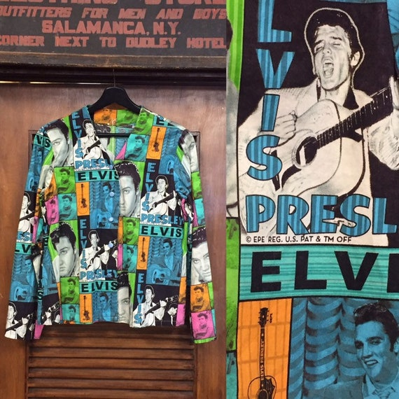 Vintage 1980's Pop Art Elvis Presley Top, Pop Art,