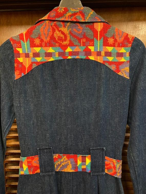 Vintage 1970's Denim Woven Jumpsuit, Vintage Jump… - image 7