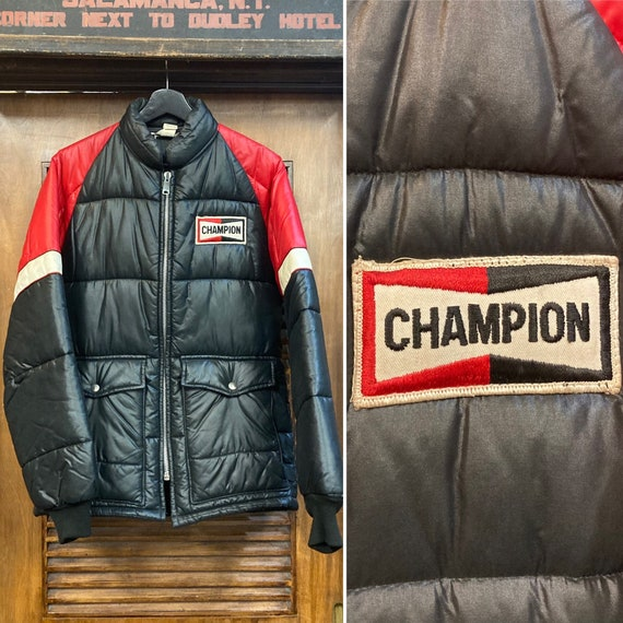 """Vintage 1960's """"Champion"""" Label Quilted Racing Jac"""