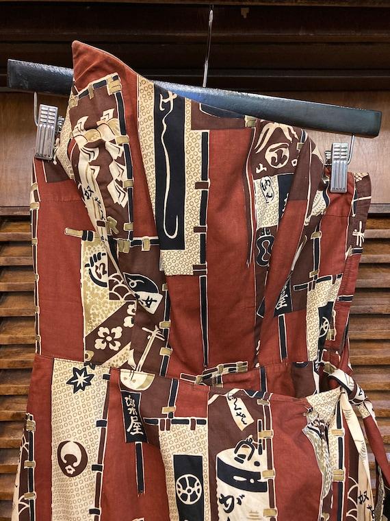 Vintage 1950's Surfriders Tiki Asian Cotton Asymm… - image 3