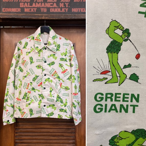 Vintage 1970's Green Giant Pop Art Cartoon Jacket,