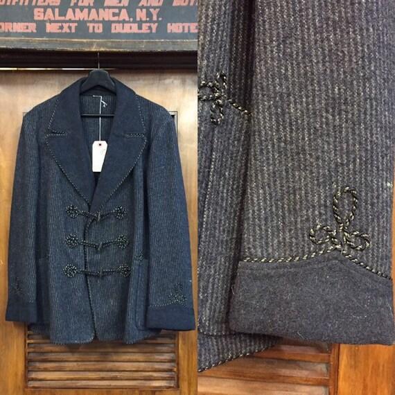 Vintage 1930's Two-Tone Brocade Workwear Smoking J