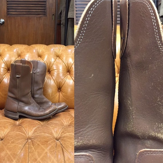 Vintage 1960's, Biltrite Boots, Brown Leather Boot