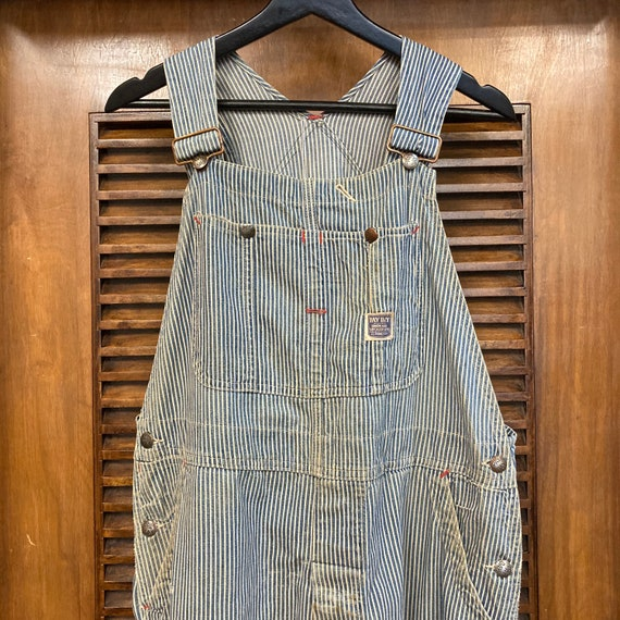 """Vintage 1940's """"Pay Day"""" Hickory Stripe Workwear … - image 4"""
