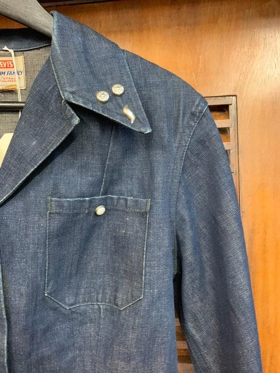 Vintage 1950's Levi's Studded Denim Shirt Jacket,… - image 4