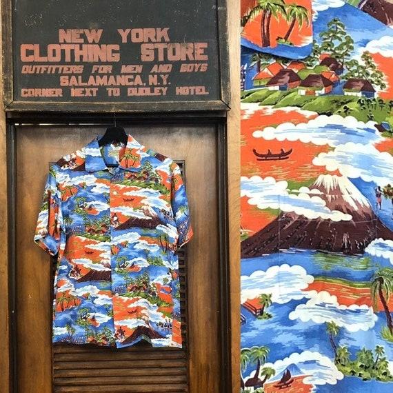 """Vintage 1950's """"McGregor"""" Natives Pattern Rayon Ha"""