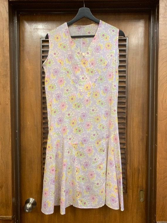 Vintage 1930's Floral Print Cotton Day Dress, Vin… - image 3