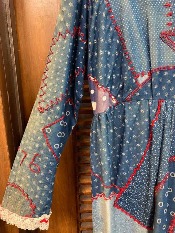 Vintage 1960's Calico Patchwork Dress, Vintage Ca… - image 6