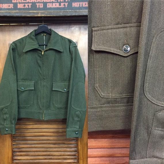 Vintage 1950's Whipcord Workwear Jacket, 50's Era