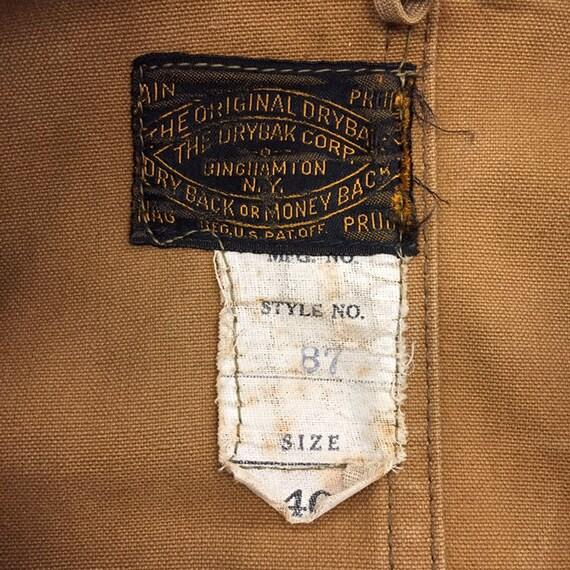 """Vintage 1930's """"Drybak"""" Label Hunting Jacket, Can… - image 10"""