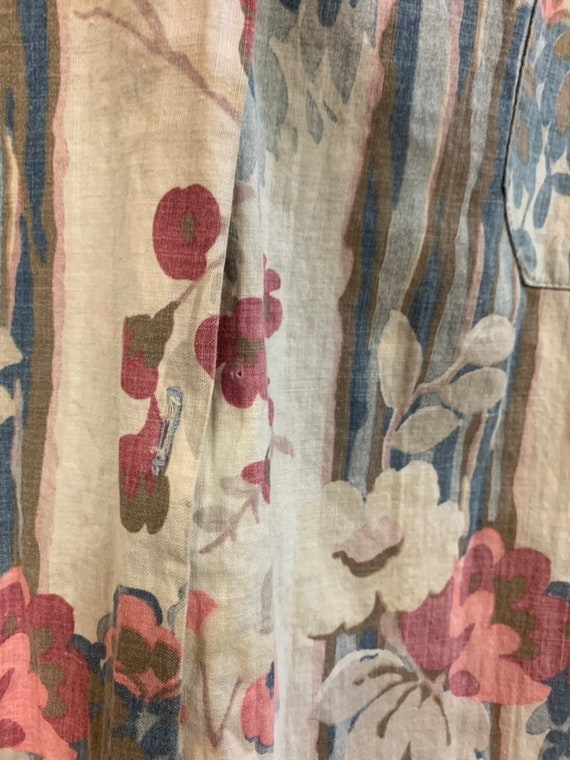 Vintage 1930's Floral Cotton Duster Coat, Vintage… - image 7